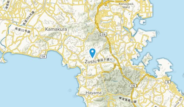 Zushi, Kanagawa Prefecture Map