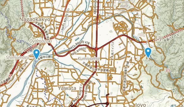 Uji, Kyoto Map