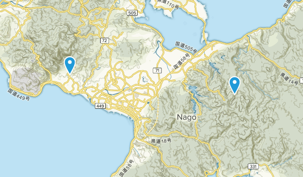 Nago, Okinawa Map
