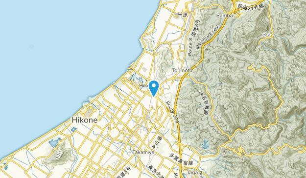 Hikone, Shiga Map
