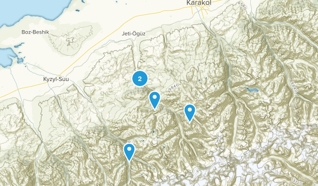 Jeti-Oguz, Ysyk-Köl Map