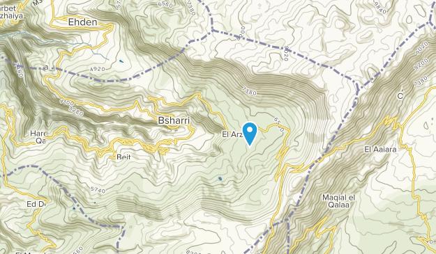 بشري, North Lebanon Map