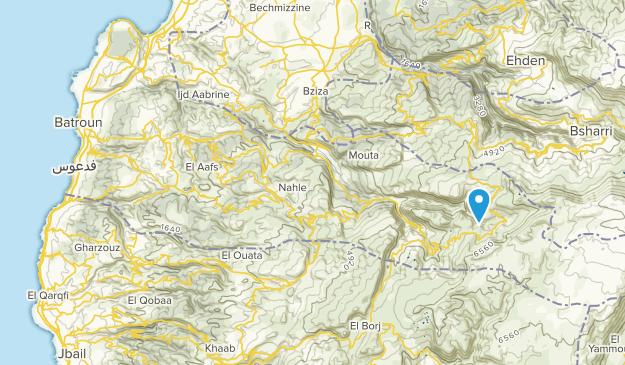 البترون, North Lebanon Map