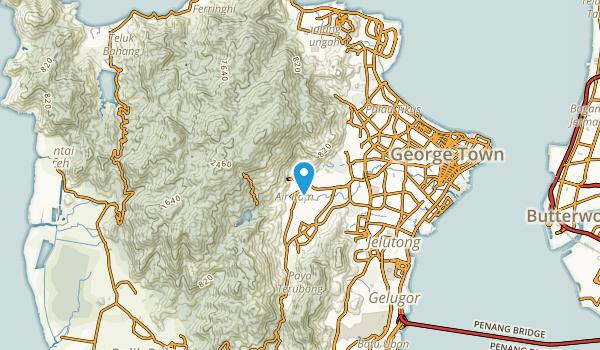 Kampong Baharu, Pulau Pinang Map