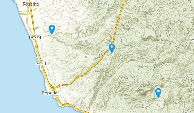 Playas de Rosarito, Baja California Map