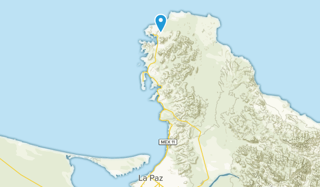 La Paz, Baja California Sur Map