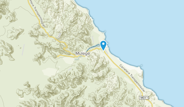Mulegé, Baja California Sur Map