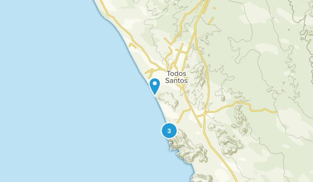 Todos Santos, Baja California Sur Map