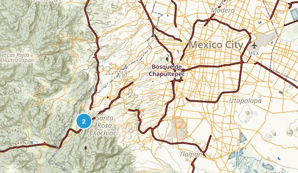 Mexico City, Distrito Federal Map