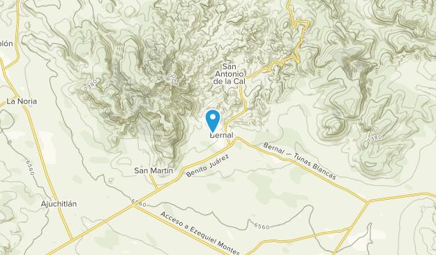 Bernal, Querétaro Map