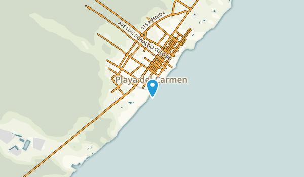 Playa del Carmen, Quintana Roo Map