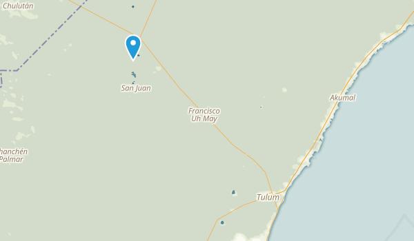Tulum, Quintana Roo Map