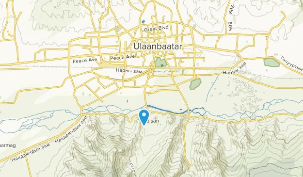 Ulaanbaatar, Mongolia Map