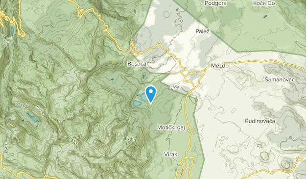 Zablijak, Cetinje Map