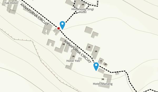 Manang, Gandaki Map