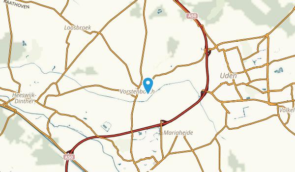 Vorstenbosch, Noord-Brabant Map