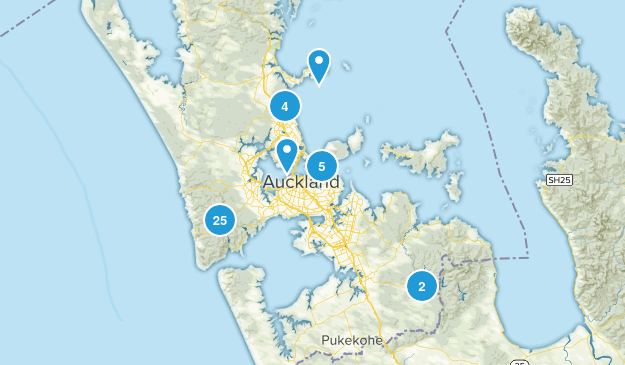 Auckland, Auckland Region Map