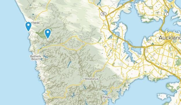 Muriwai Beach, Auckland Region Map