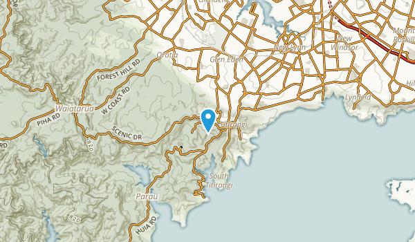 Titirangi, Auckland Region Map