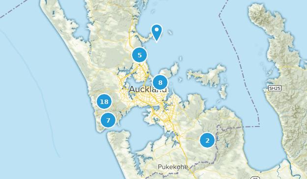 Auckland, Aukland Map