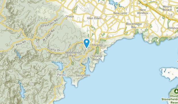 Titirangi, Aukland Map