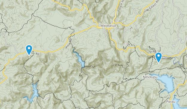 Waiatarua, Aukland Map