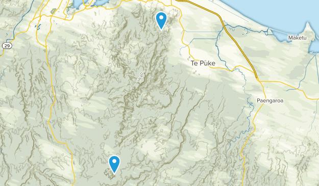 Te Puke, Bay of Plenty Region Map