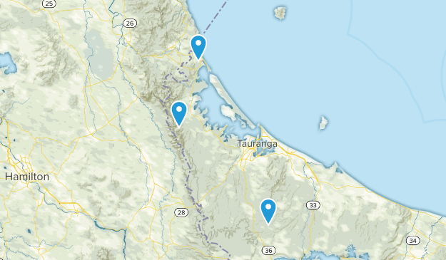 Waihi Beach, Bay of Plenty Region Map