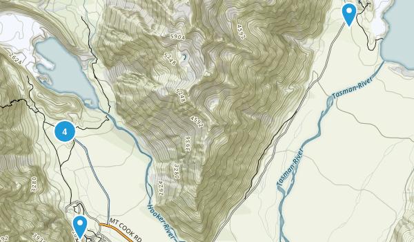 Aoraki/Mount Cook, Canterbury Region Map