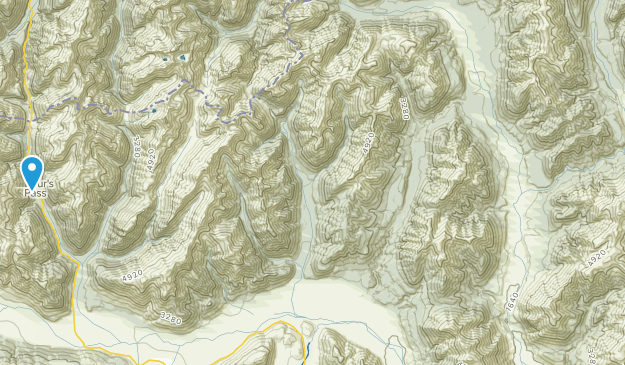 Arthur's Pass, Canterbury Region Map