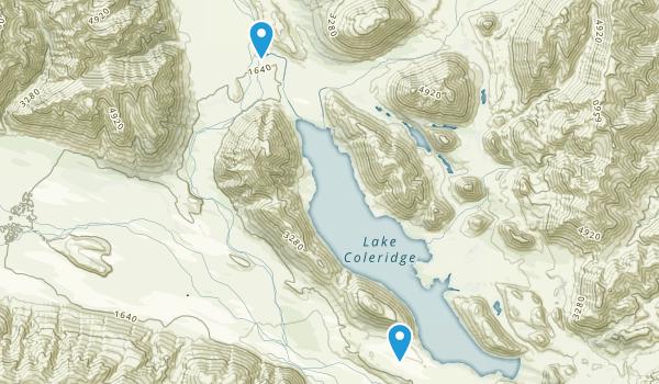 Lake Coleridge, Canterbury Region Map