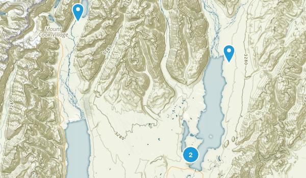 Lake Tekapo, Canterbury Region Map