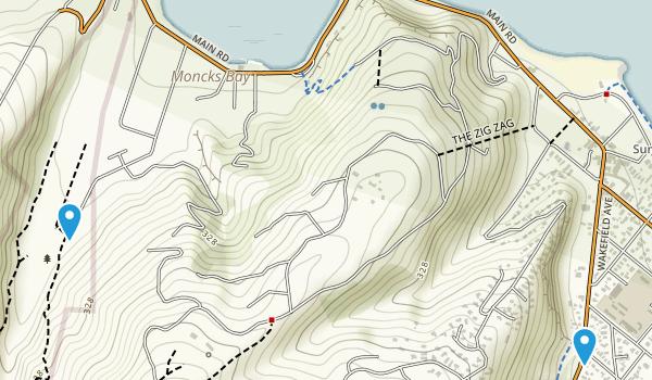 Redcliffs, Canterbury Region Map