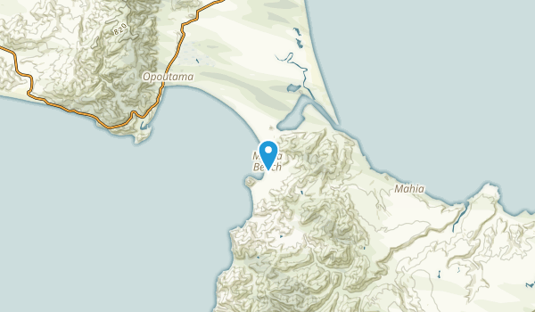 Mahia Beach, Hawke's Bay Region Map
