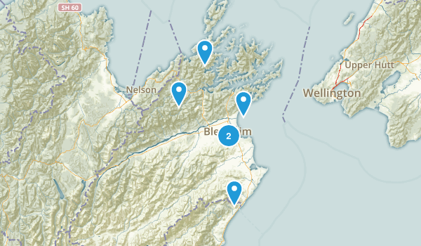 Blenheim, Marlborough Region Map
