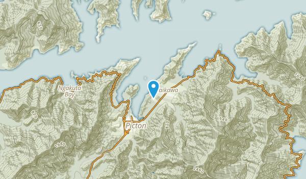 Waikawa, Marlborough Region Map