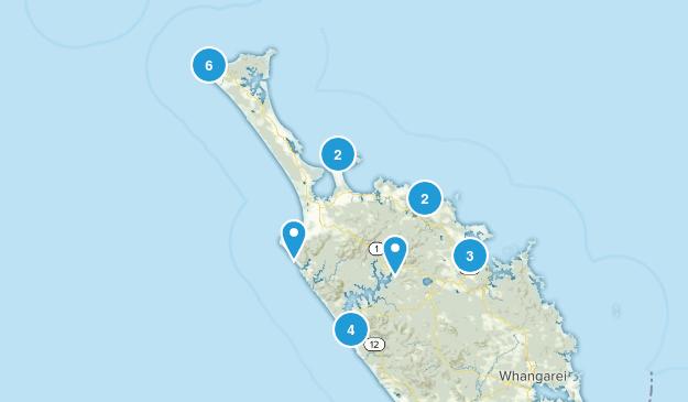 Cape Reinga, Northland Region Map