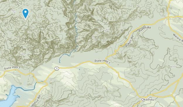 Okaihau, Northland Region Map