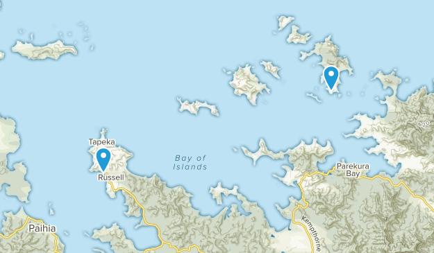 New Zealand Northland Map Detailed.Best Trails Near Russell Northland New Zealand Alltrails