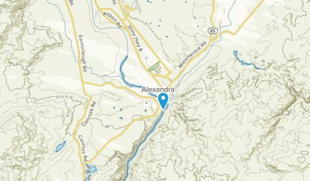 Alexandra, Otago Region Map