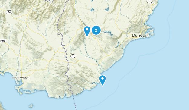 Bungtown, Otago Region Map