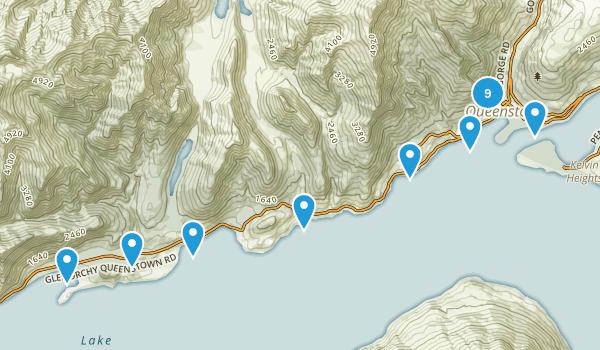Queenstown, Otago Region Map