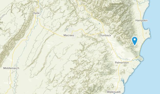 Trotters Gorge, Otago Region Map