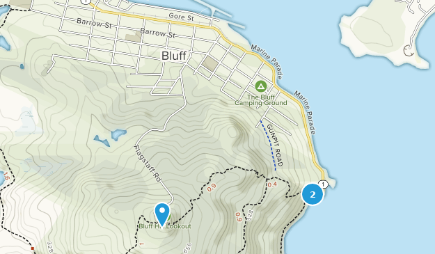 Bluff, Southland Map