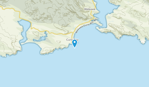 Curio Bay, Southland Region Map