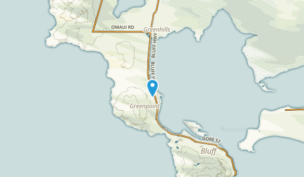 Greenpoint, Southland Region Map