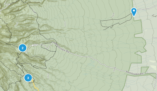 Dawson Falls, Taranaki Region Map
