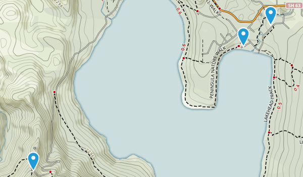 Saint Arnaud, Tasman Region Map