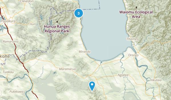 Hauraki District, Waikato Region Map