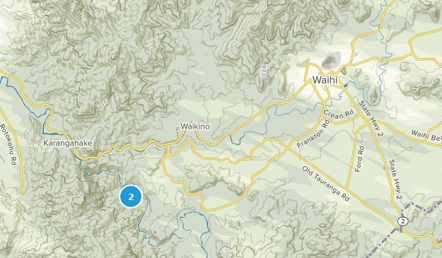 Waihi, Waikato Region Map
